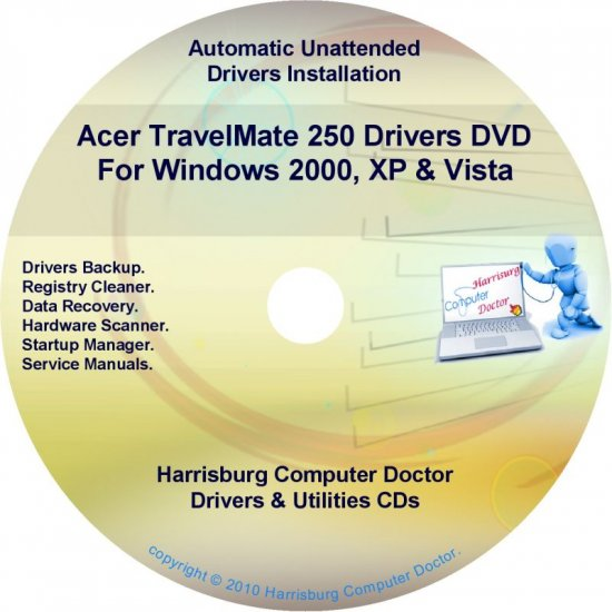 Acer TravelMate 250 Drivers Restore Recovery CD/DVD