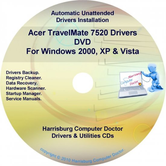 Acer TravelMate 7520 Drivers Restore Recovery CD/DVD