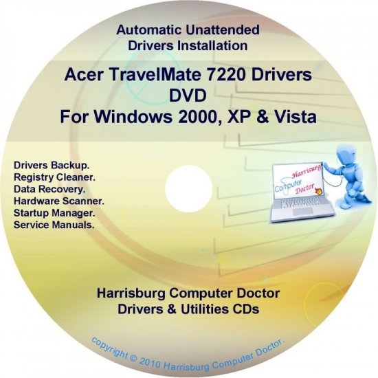 Acer TravelMate 7220 Drivers Restore Recovery CD/DVD