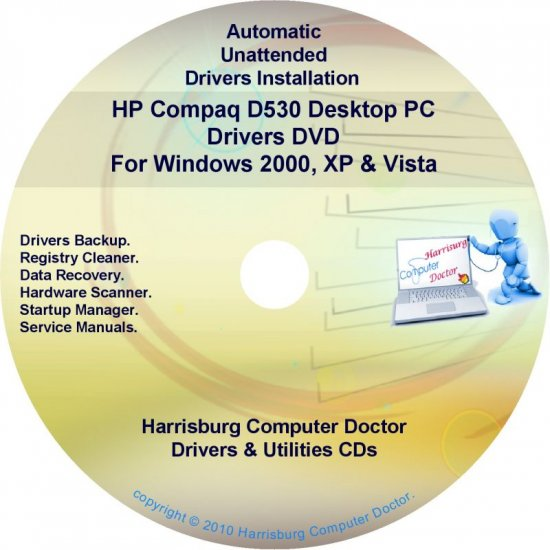 HP Compaq D530 Desktop PC Driver Recovery Disc CD/DVD