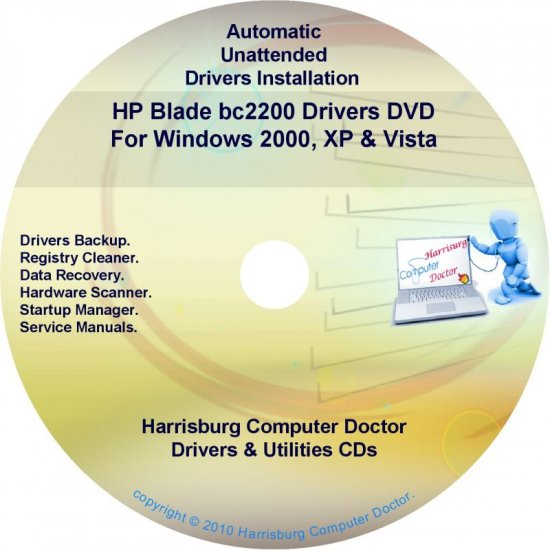 HP Blade bc 2200 Driver Recovery Restore Disc CD/DVD
