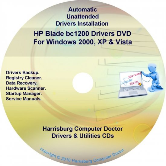 HP Blade bc 1200 Driver Recovery Restore Disc CD/DVD