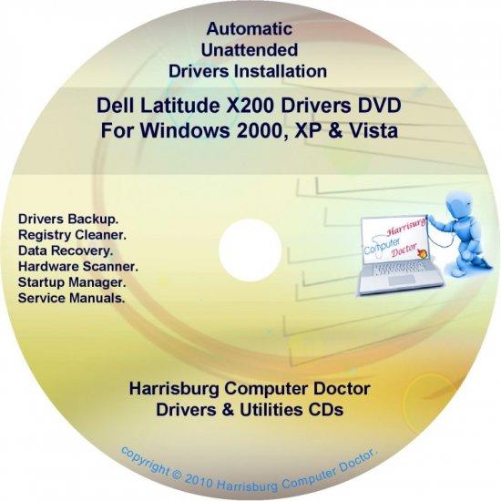 DELL Latitude X200 Driver Recovery Restore Disc CD/DVD