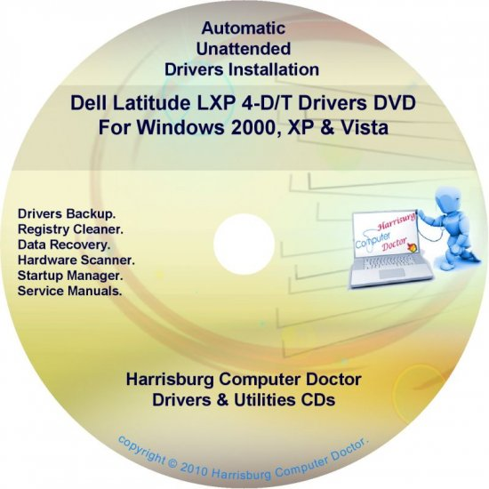DELL Latitude LXP 4-D/T Driver Recovery Disc CD/DVD