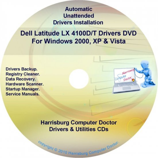 DELL Latitude LX 4100D/T Driver Recovery Disc CD/DVD