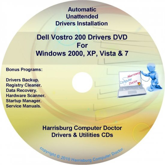 Dell Vostro 200 Drivers Recovery Restore Disc CD/DVD