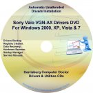 Sony Vaio VGN-AX Drivers Restore Recovery CD/DVD