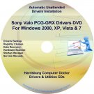 Sony Vaio PCG-GRX Drivers Restore Recovery CD/DVD