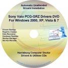 Sony Vaio PCG-GRZ Drivers Restore Recovery CD/DVD