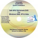 Dell XPS 720 Drivers Recovery Restore Disc Disk CD/DVD