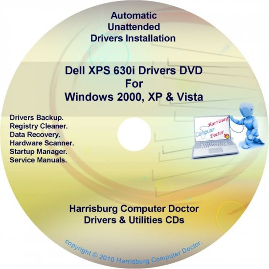Dell XPS 630i Drivers Recovery Restore Disc Disk CD/DVD