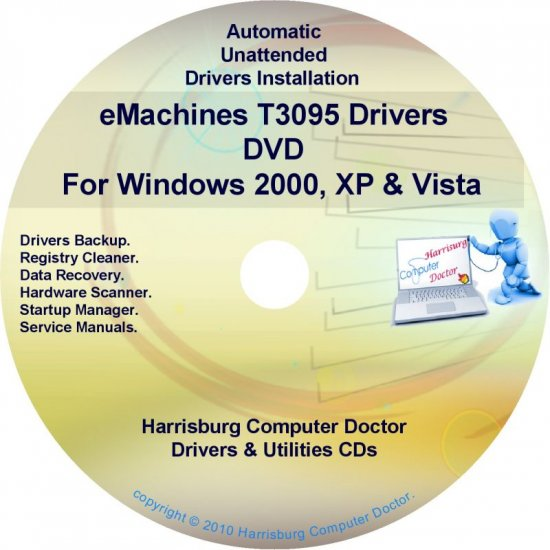 eMachines T3095 Drivers Restore Recovery CD/DVD