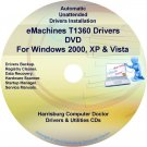eMachines T1360 Drivers Restore Recovery CD/DVD