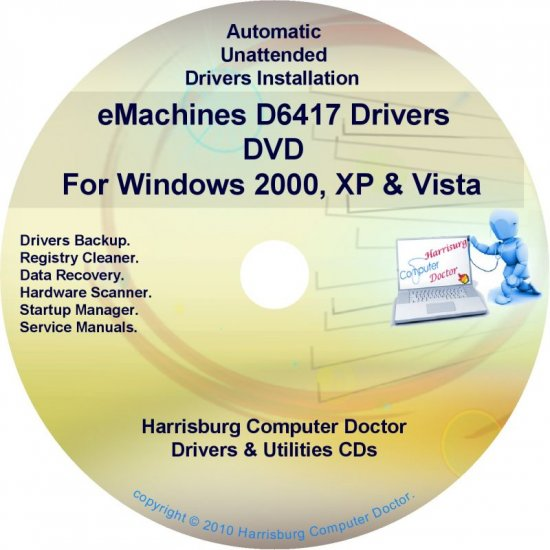 eMachines D6417 Drivers Restore Recovery CD/DVD