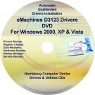 eMachines D3123 Drivers Restore Recovery CD/DVD