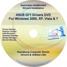 Asus G71 Drivers Restore Recovery CD/DVD