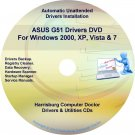 Asus G51 Drivers Restore Recovery CD/DVD