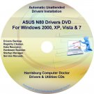 Asus N80 Drivers Restore Recovery CD/DVD