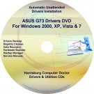 Asus G73 Drivers Restore Recovery CD/DVD