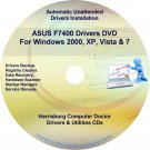 Asus F7400 Drivers Restore Recovery CD/DVD