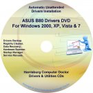 Asus B80 Drivers Restore Recovery CD/DVD