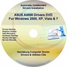 Asus A4000 Drivers Restore Recovery CD/DVD