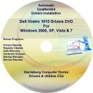 Dell Vostro 1015 Drivers Recovery Restore Disc CD/DVD
