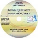 Dell Studio 1747 Drivers Recovery Restore Disc CD/DVD