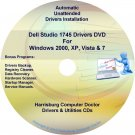 Dell Studio 1745 Drivers Recovery Restore Disc CD/DVD