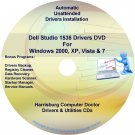 Dell Studio 1536 Drivers Recovery Restore Disc CD/DVD