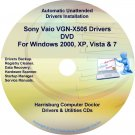 Sony Vaio VGN-X505 Drivers Restore Recovery CD/DVD
