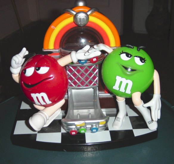 Jukebox Dancing Rock and Rollin M&M Candy Dispenser #100000