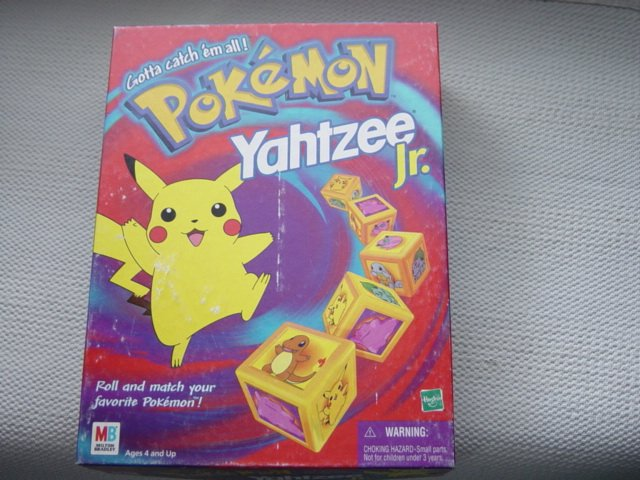 Pokemon Yahtzee Jr. Board Game Gotta Catch em All #100001
