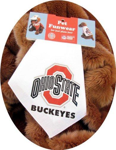 Ohio State University OSU Buckeyes Dog Bandana Official NCAA Sports Pet Apparel