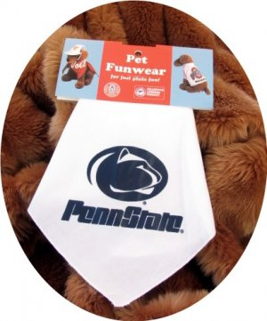 Penn State University PSU Nittany Lions Dog Bandana Official NCAA Sports Pet Apparel