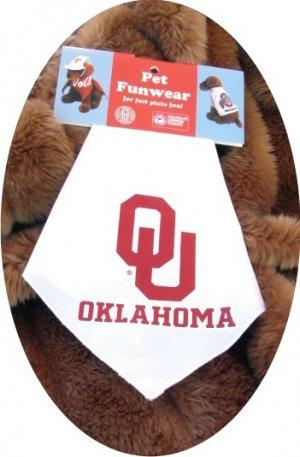 Oklahoma Sooners OU Sports Dog Bandana Official NCAA Sports Pet Apparel