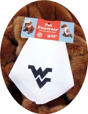 West Virginia Mountaineers WVU Dog Bandana Official NCAA Sports Pet Apparel