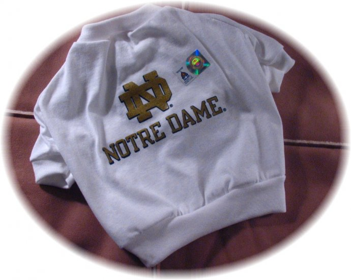 Notre Dame Fighting Irish T Shirt NCAA College Sports Dog Football Tee Shirt Petite Size