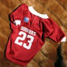 Oklahoma University OU Sooners Deluxe NCAA Football Team Sports Dog Jersey Small Size