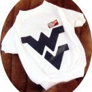 West Virginia University WVU Mountaineers T Shirt Sports Dog Tee Shirt XL Size