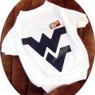 West Virginia University WVU Mountaineers NCAA T Shirt Sports Dog Tee Shirt 3X Size