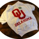 Oklahoma OU Sooners NCAA College Sports Team Logo Dog Tee Shirt  Large Size