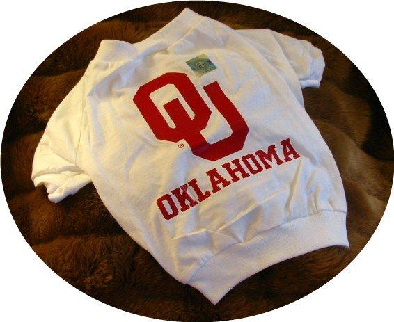 Oklahoma OU Sooners NCAA College Sports Team Logo Dog Tee Shirt  2X Size