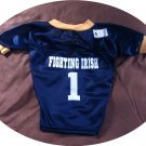 Notre Dame Fighting Irish Deluxe NCAA Team Sports Dog Football Jersey Large Size