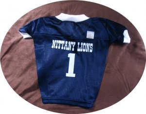 Penn State Nittany Lions Deluxe NCAA Sports Logo Dog Football Jersey Small Size