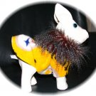 Custom Made Gold and Black Pittsburgh Steelers Dog Coat XS Size