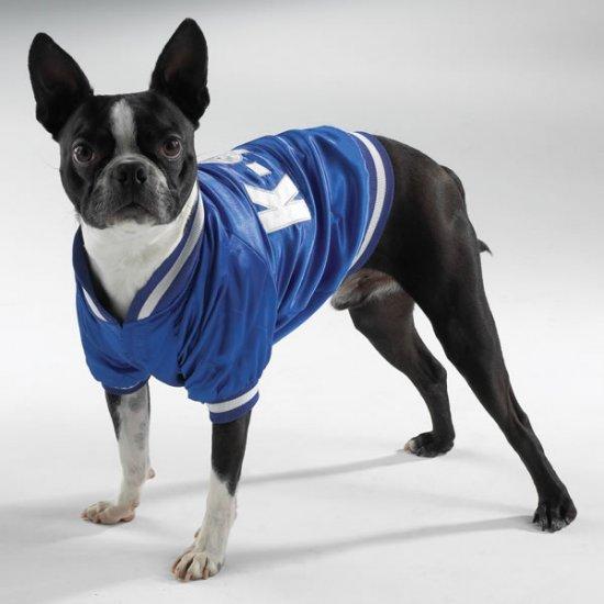 Satin Blue K9U Baseball Team Dog Jacket XS Size