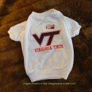 Virginia Tech Hokies NCAA Sports Dog Football Tee Shirt Petite Size