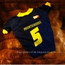 West Virginia University WVU Mountaineers Gold Lettering Deluxe NCAA Dog Jersey Large Size