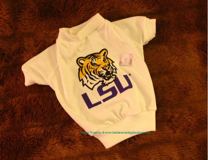 Louisiana State LSU Tigers NCAA College Sports Dog Tee Shirt Petite Size